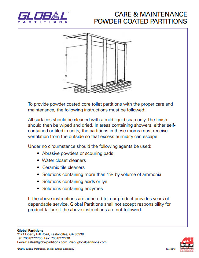 Amazing Global Toilet Partition Installation Instructions - Bathroom partition installation instructions